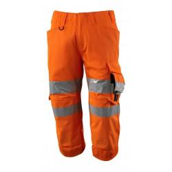 Mascot Safe 17549 Supreme 3/4 Length Pants With Kneepad Pockets - Hi-vis Orange