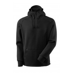 Mascot Advanced 17684 Hoodie With Half Zip Black