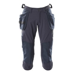 Mascot Accelerate 18249 3/4 Length Pants With Kneepad Pockets And Holster Pockets - Dark Navy
