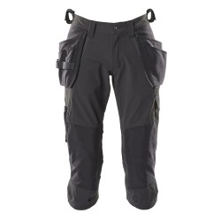 Mascot Accelerate 18249 3/4 Length Pants With Kneepad Pockets And Holster Pockets - Black