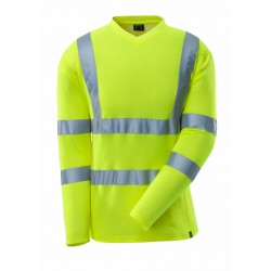 Mascot Safe 18281 Classic T-shirt, Long-sleeved - Hi-vis Yellow
