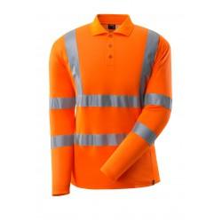 Mascot Safe 18283 Classic Polo Shirt, Long-sleeved - Hi-vis Orange