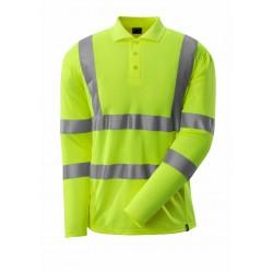 Mascot Safe 18283 Classic Polo Shirt, Long-sleeved - Hi-vis Yellow