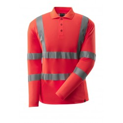 Mascot Safe 18283 Classic Polo Shirt, Long-sleeved - Hi-vis Red
