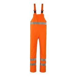 Mascot Safe Aqua Hartberg Rain Bib & Brace - Hi-vis Orange