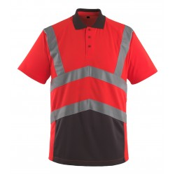 Mascot Safe Young Anadia Polo Shirt - Hi-vis Red/dark Anthracite