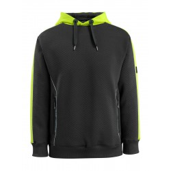 Mascot Hardwear 50124 Hoodie Black High-Visibility Hi-Vis Yellow