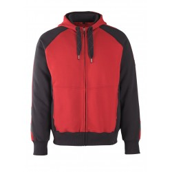 Mascot Unique 50566 Hoodie With Zipper Red Black
